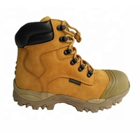 YL9000 high quality feet protect buffalo leather working shoes PU injection safety work boots