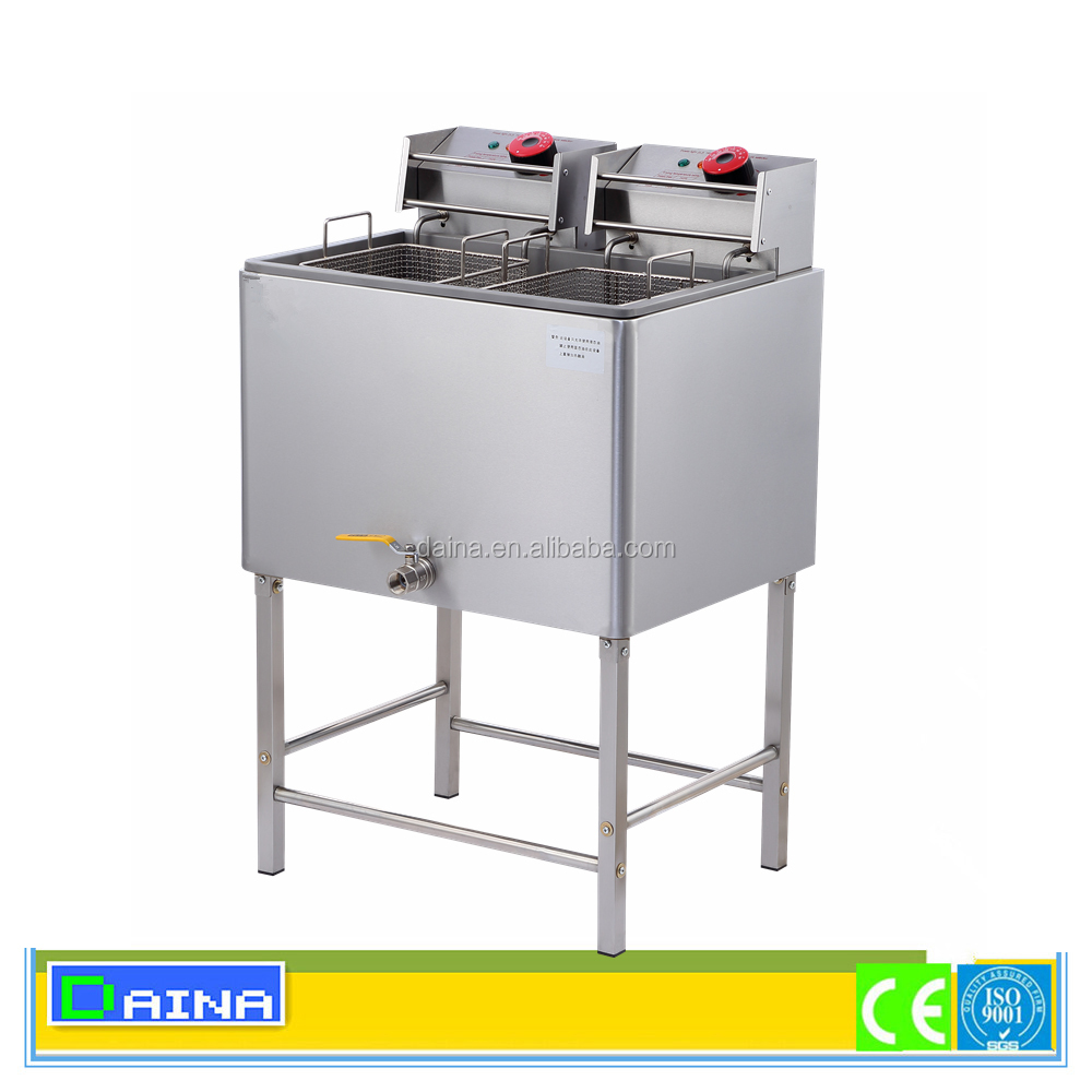 Commercial double fryer/ capacity 12L 2 Tank 2 Basket deep tank Gas Fryer