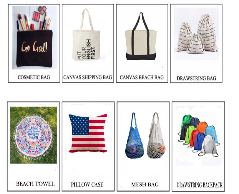 カスタムポーチ旅行かわいいキャンバス化粧品袋