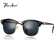 Pro Acme Classic Mens Semi Rimless Sunglasses with Clear Lens PA0481