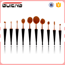 Alibaba Guteng Private Label Rose Gold Makeup Brush Kit 10Pcs Oval Toothbrush Cosmetics Makeup Brush Set