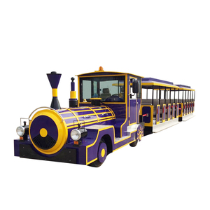 Commercial Adult Rides Train Set Used Trackless Train For Sale