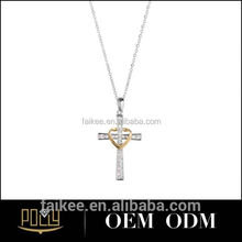 sterling silver heart cross pendant for men crane pendant control