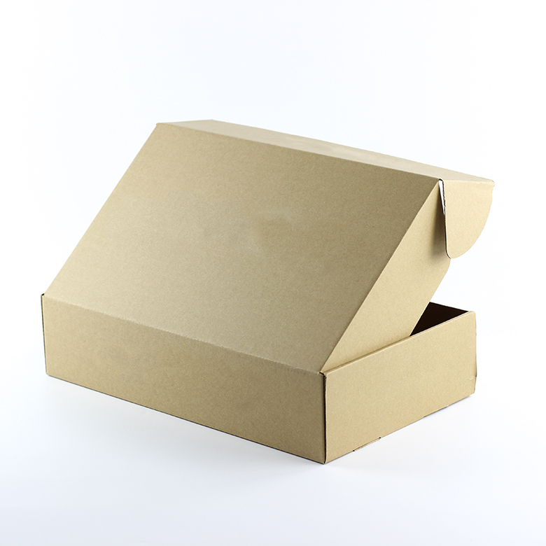 Custom Logo Clothing Kraft Packaging Flat Corrugated Cardboard Shipping <strong>Box</strong>