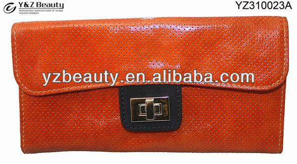 Cow leather women handbags and purses Evening small bag Red clutch