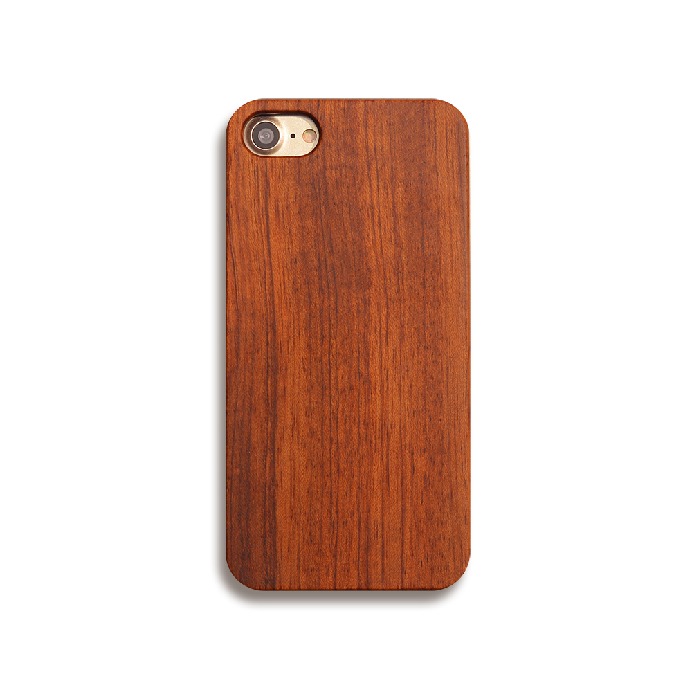 100% Original Real Wood Case For iPhone 7 7plus  Genuine Natural Wooden + Hard PC Back Cover Phone Cases