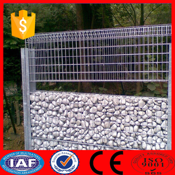 White Vinyl Coated Galvanized Welded Wire Mesh Gabion Fence - Buy ...