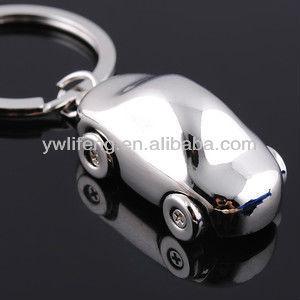 metal car shaped key ring custom keychain