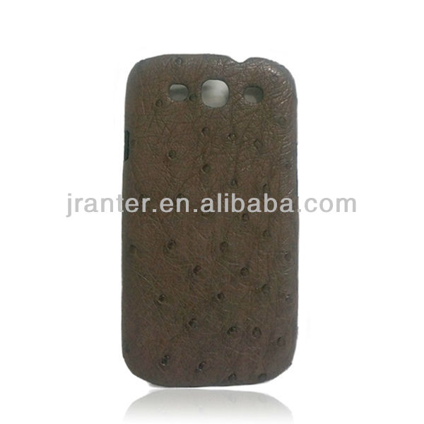 Cell Phone Accessories Genuine Leather Case Ostrich Skin for Samsung Galaxy S3 Case Luxury Leather Cover for Samsung I9300