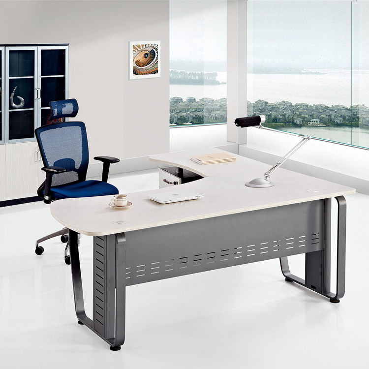 FOSHAN Modern MDF/ Panel/ Wooden/ Office Staff Computer Table/Desk