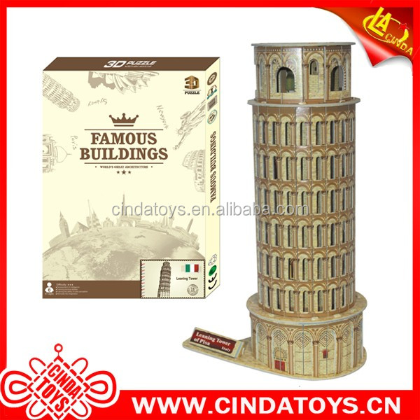 Leaning Tower of Pisa paper puzzle toys 3d Building model