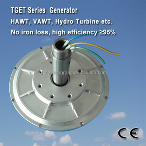 TGET550-2KW-100R Coreless low RPM generator/wind alternator Outer rotor generator, three-phase permanent magnet alternator
