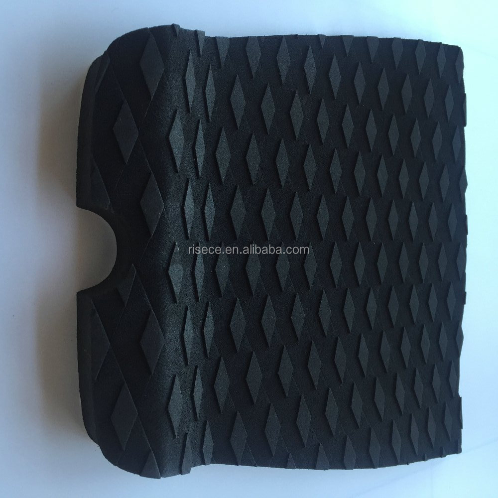 One-piece deck pad eva foam pad black surfboard traction pads grip