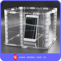 Acrylic case for mobile phone display table stand for mobile phone
