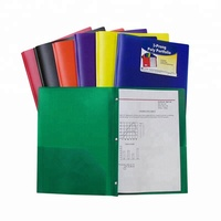 Letter size School folders Poly Portfolio With 2 pockets 3 prongs