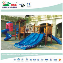 Outdoor wood children playground equipment