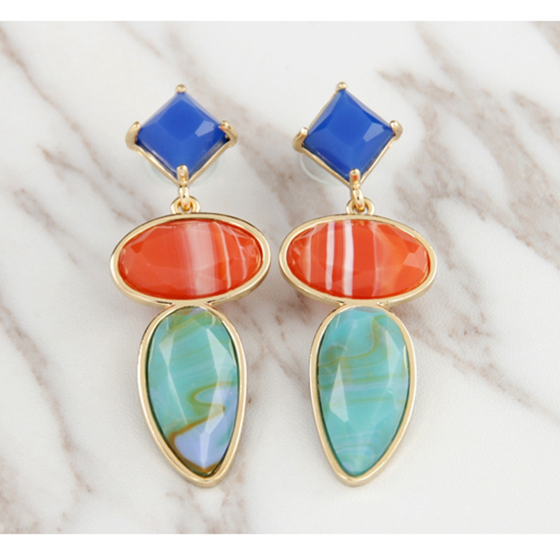 Manufacturers custom high quality best-selling fashion brand resin pendant earrings