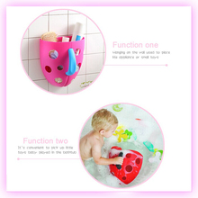 Bring happiness to bathing babies plastic soft baby toy storage bag