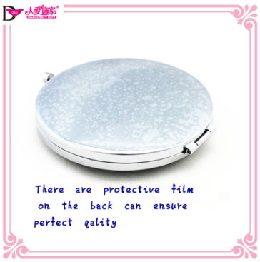 Fashion Gifts Colorful Oval Plastic Hand Held Cosmetic Mirror
