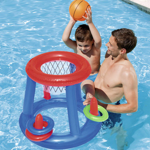 Children Water Basketball Hoop Pool Float Inflatable Swim Ring Pool Toy Water Fun Swimming Play Game Floating Toys