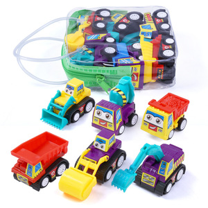 6 Pack Mini Assorted Construction Vehicles and Race Car Toy, Yeonha Toys Vehicles Truck Mini Car Toy for Kids