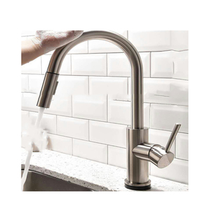 2 way Kitchen Sink Faucet Sensor Faucet Stainless Steel Single Handle spray