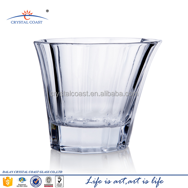 Slant Design Double Old Fashioned Glass Tumbler