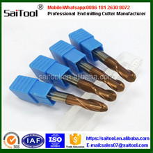 4flutes solid carbide square 1mm ball nose end mill cutters /Milling cutter for metal processing
