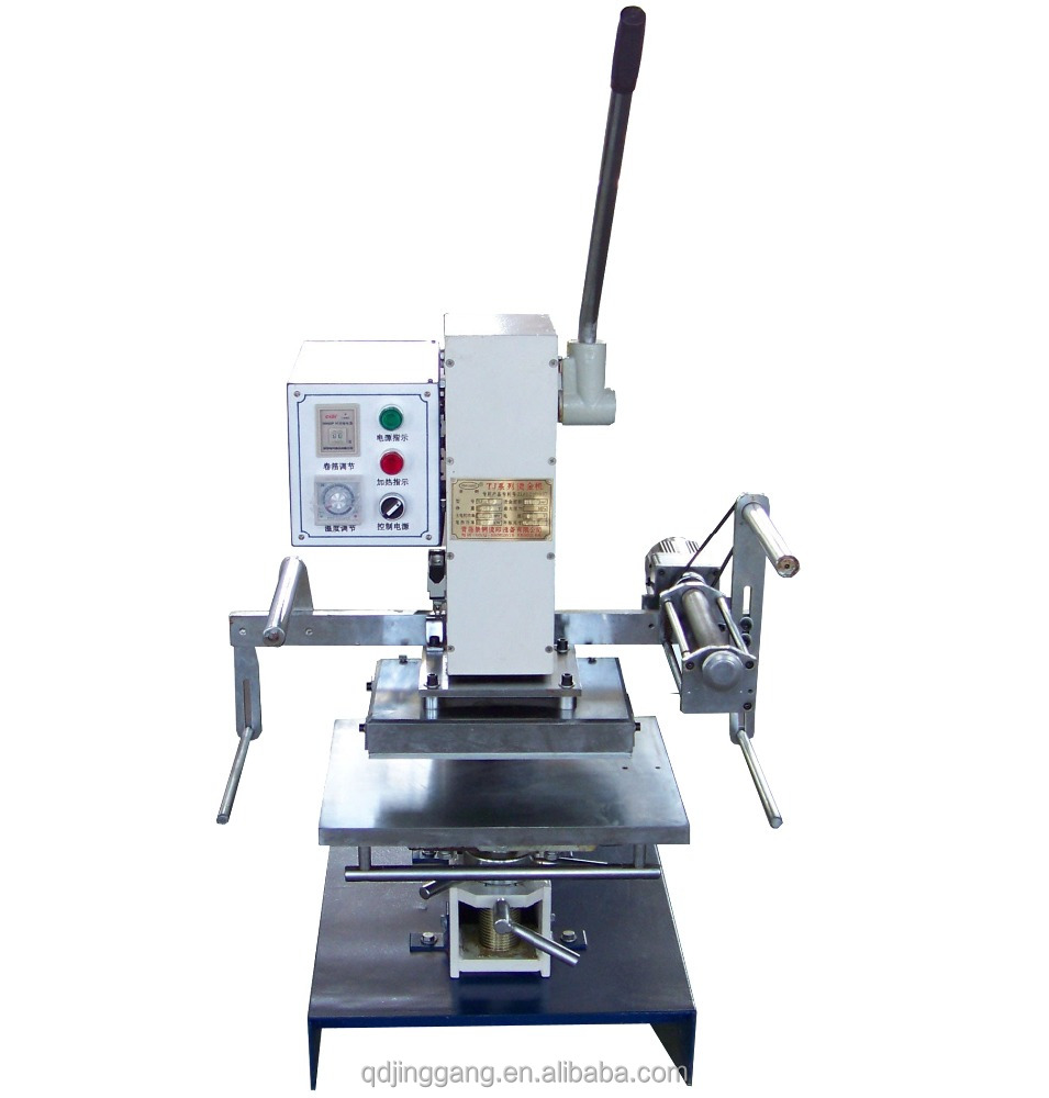 Jinggang hot sales TJ-30 manual gold stamping machine for fishing lure fishing rod fishing tool