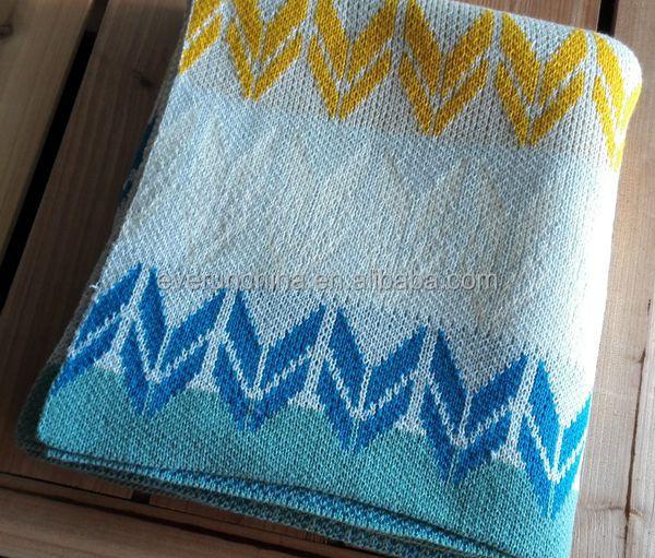 50db42 Machine Knit Sweater Blanket Arrow Knit Throw Blanket