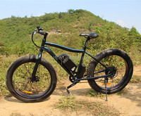 2015 hot sell big tire fat tire snowmobile electric mountain bicycle with 48V 500W SUMSUNG battery