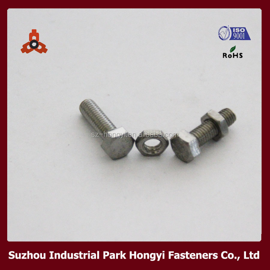 DIN933 Full Thread Stainless Steel Hex Thick And Thin Head High Quality Shear Bolt
