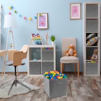 Home Fashion Foldable Storage Cube Basket Bins Kids Toy Storage 6 Drawer  Shelf Organizer Box