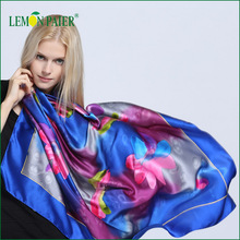 Hot Sales Fashionable 100% Silk Printing Large Scarf