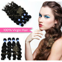 Fashion style #1 color 100% Brazilian easy hair styles medium wavy hair