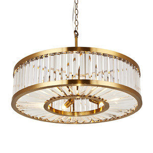 American house lighting clear glass brass gloden pendant lamp round