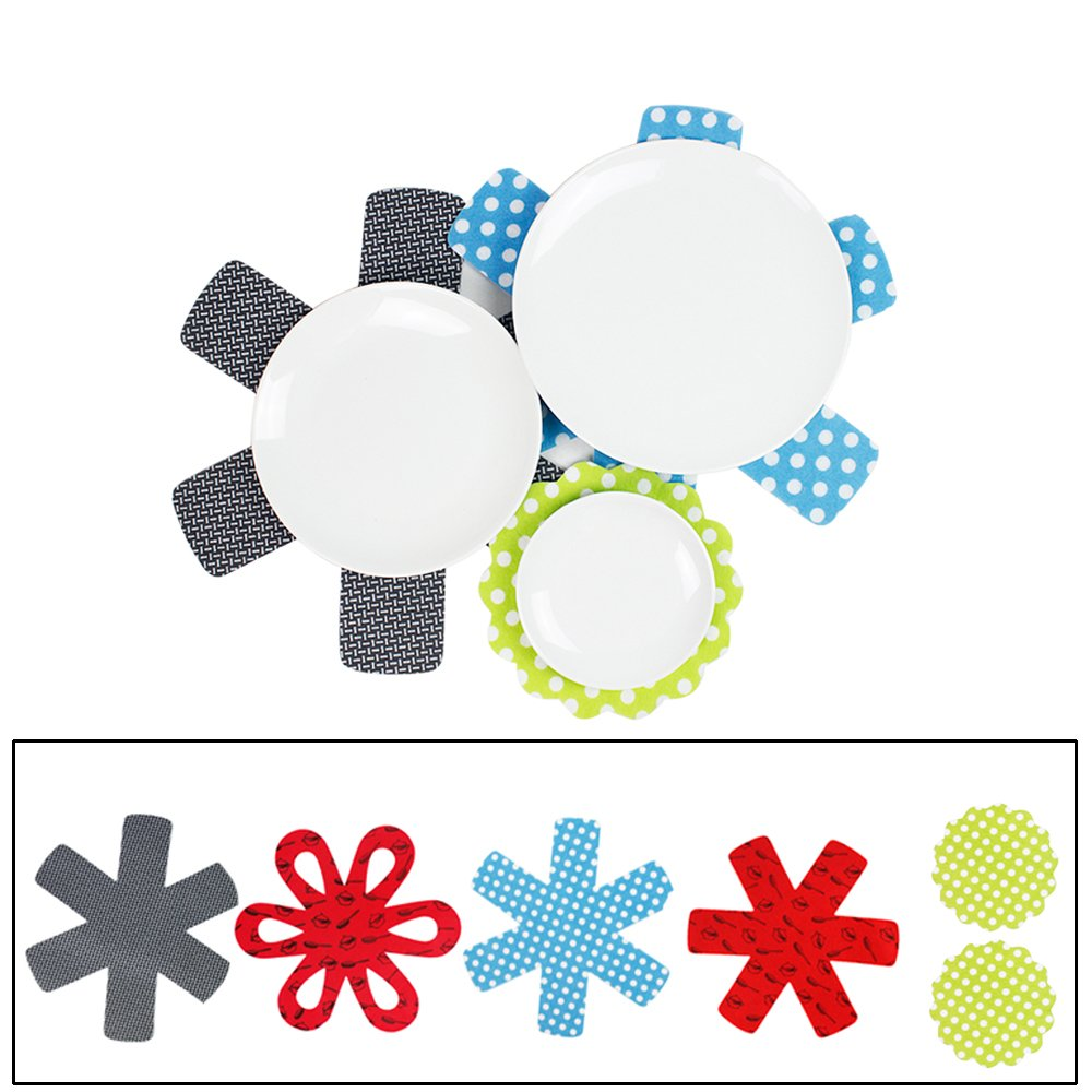 Pot and Pan Protectors,Thick Felt Surface Dividers for Non-Stick and Non-Slip - Great as pot holders, Iron Skillets, table placemats or coasters