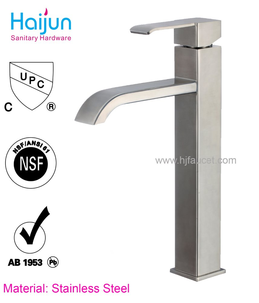 Single Handle Hot cold water Stainless steel Basin Taps