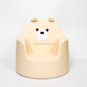 Elegant mold hard foam cut baby sofa with panda embroidery