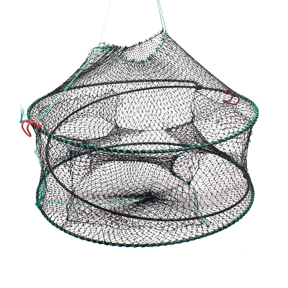 Buy Pond Foldable Spring Wire Frame Nylon Fish Shrimp Lobster Trap ...