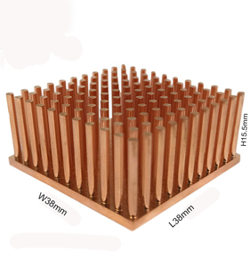 Pin Fin Copper Heat Sink Photo,Custom Copper Pin Fin Heatsink Copper,Copper Small Heat Sink