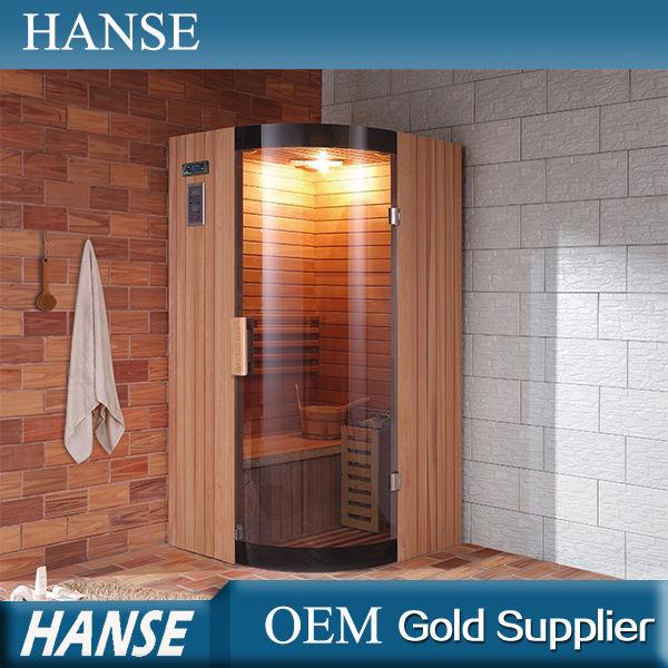 Hs-100cy Finland Sauna/hoek Traditionele Sauna/sauna Douche Badkamer ...