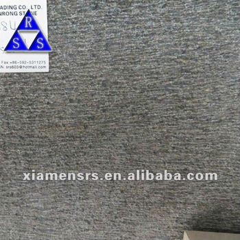 Black granite G684 chiselled, Black granite tile