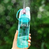 customized 400ml anti leak plastic sports bottle negative ion tritan material plastic type water bottle