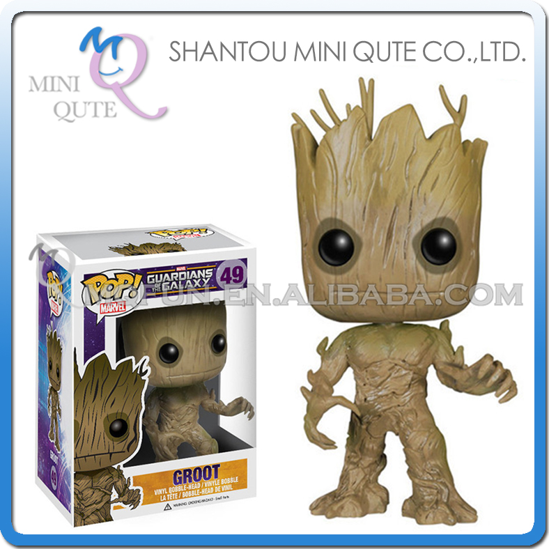 Mini Qute Funko Pop Guardians of the Galaxy Groot super hero action figures cartoon models educational toy NO.FP 49