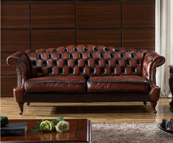 Unique Vintage Leather Sofa Set