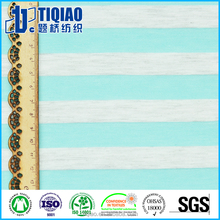 32S/T/R65/35 Stripped Jersey fabric softening process for baby cloth