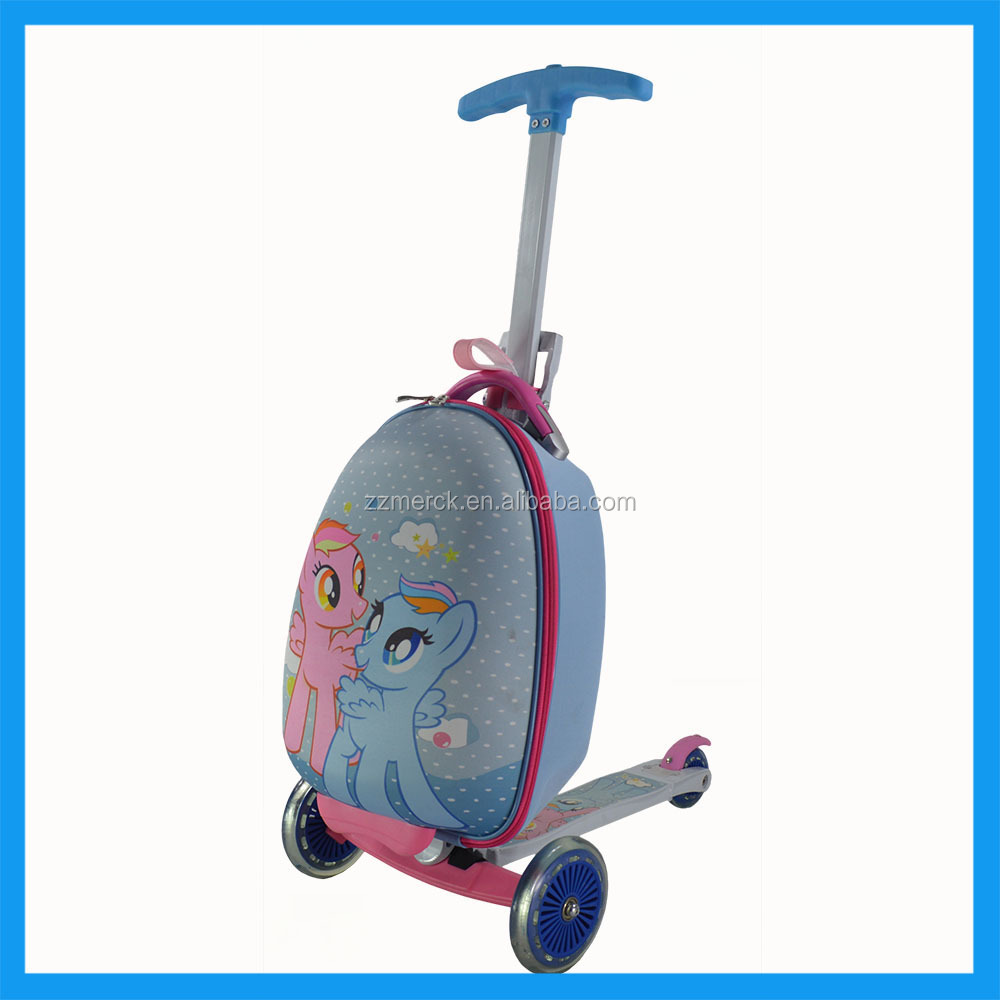 Kids 3 Wheeled Luggage Scooter for Travel