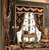New Arrival Jacquard Fabric Curtain With Embroidery, Decorated Living Room Curtain