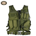 Fashion mens army green multi pocket olive polyester tactical vest military custom combat outdoor